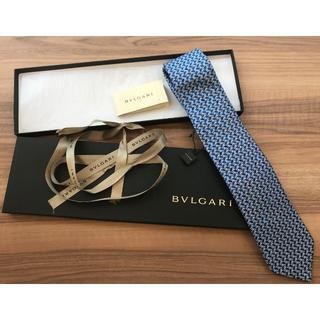 ブルガリ(BVLGARI)のブルガリ ネクタイ ブルー 梟 新品(93014281)(ネクタイ)