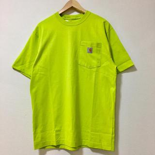カーハート(carhartt)のCarhartt カーハート 半袖ポケット Tシャツ ライムグリーン サイズL(Tシャツ/カットソー(半袖/袖なし))