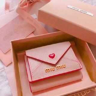 miumiu - miumiu ラブレター マドラスラブ 財布