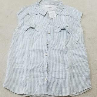 リズリサ(LIZ LISA)のLIZ LISA新品ストライプリボンシャツ(Tシャツ(半袖/袖なし))