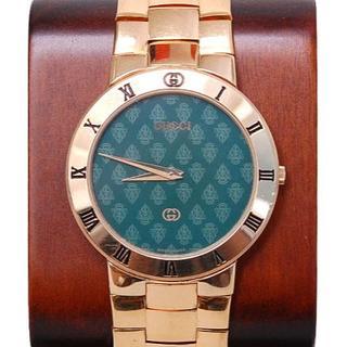 グッチ(Gucci)のGGG様専用 グッチ 時計 ヴィンテージ 3300 M グリーン 文字盤 GP (腕時計(アナログ))