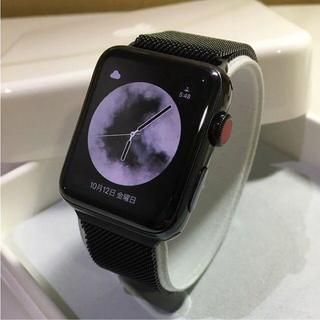 Apple Watch - Apple Watch series3 ブラックステンレス セルラー 42mm