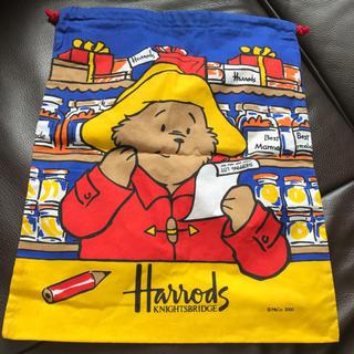 〈新品 未使用〉Harrods ハロッズ 収納袋(体操着入れ)