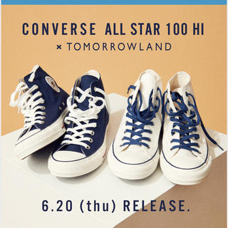 TOMORROWLAND - 【新品未使用】トゥモローランド40周年記念コンバースオールスターハイカット 紺色