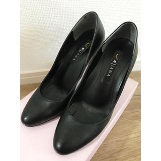 DIANA - DIANA/ダイアナ ルフリー パンプス 23.5☆本革 レザー ブラック