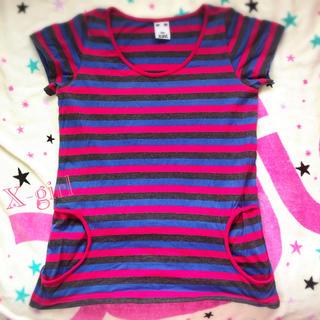 エックスガール(X-girl)のX-girl (エックスガール) ボーダー Tシャツ(Tシャツ(半袖/袖なし))