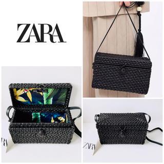 ZARA - ZARA ザラ かごバッグ ななめがけ バッグ カゴ ミニ ショルダーバッグ
