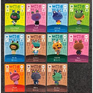 ニンテンドー3DS(ニンテンドー3DS)のどうぶつの森 amiibo カード カエル 11枚 セット アミーボ 109(シングルカード)