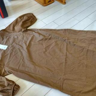 UNIQLO - ユニクロ マーセライズボリュームスリーブワンピース(5分袖)2200円