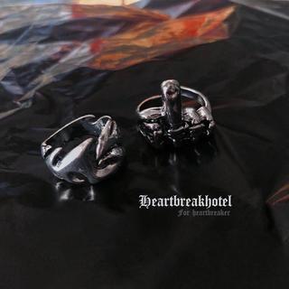 ♡ Vintage Silver Fuck Finger Ring