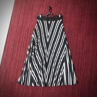 エイチアンドエム(H&M)のH&M プリーツスカート  xs ミモレ丈スカート(ひざ丈スカート)