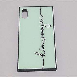 iPhone - iPhoneXケース/背面ガラス/シンプル/モノクロ/スクエア
