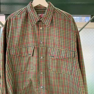 90s 古着 チェックシャツ シャドーチェック オーバーサイズ vintage(シャツ)