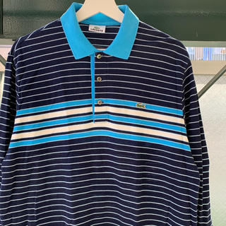 LACOSTE - LACOSTE ポロシャツ ラガーシャツ ボーダー used vintage