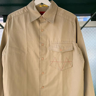 modern amusement ステッチシャツ ワークシャツ チノシャツ
