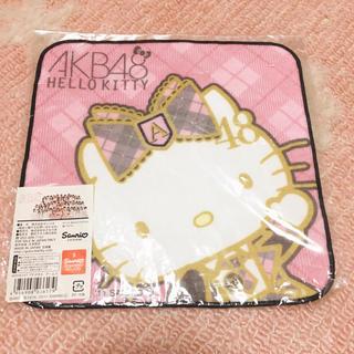 ハローキティ(ハローキティ)のAKB48 ハローキティ コラボ ハンカチ 【新品・未開封】(ハンカチ)