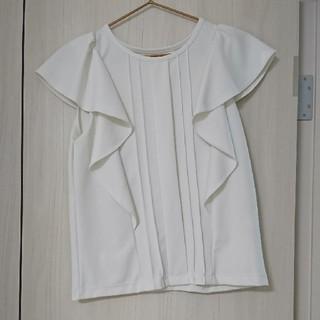 ジーユー(GU)のgu袖フリルブラウス(シャツ/ブラウス(半袖/袖なし))