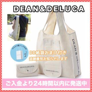 ディーンアンドデルーカ(DEAN & DELUCA)の紙袋付きエコバッグDEAN&DELUCAトートバッグショッピングバッグナチュラル(エコバッグ)