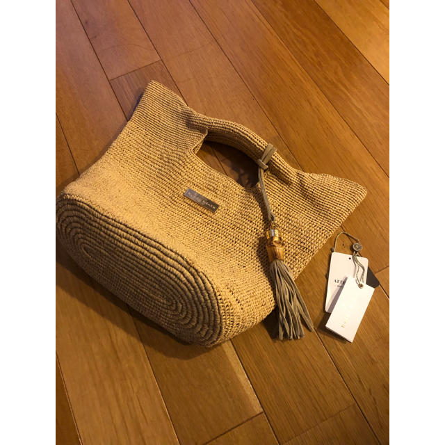 L'Appartement DEUXIEME CLASSE(アパルトモンドゥーズィエムクラス)のL'Appartement ◇RAFFIA BAG(M) レディースのバッグ(かごバッグ/ストローバッグ)の商品写真