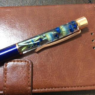 青のハーバリウムボールペン(その他)