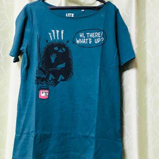ユニクロ(UNIQLO)のUNIQLO MOOMIN Tシャツ Mサイズ グリーン(Tシャツ/カットソー(半袖/袖なし))