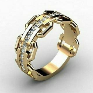 ゴールド ベルトリング 送料無料  (リング(指輪))