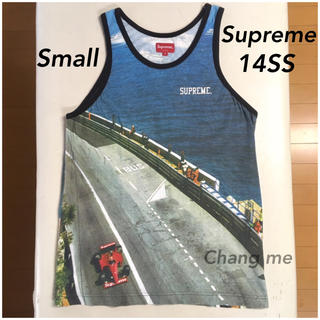 Supreme - Small Supreme Grand Prix Tank top 美中古品