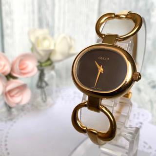 グッチ(Gucci)の【動作OK】GUCCI グッチ 腕時計 1600 ブラック ゴールド(腕時計)