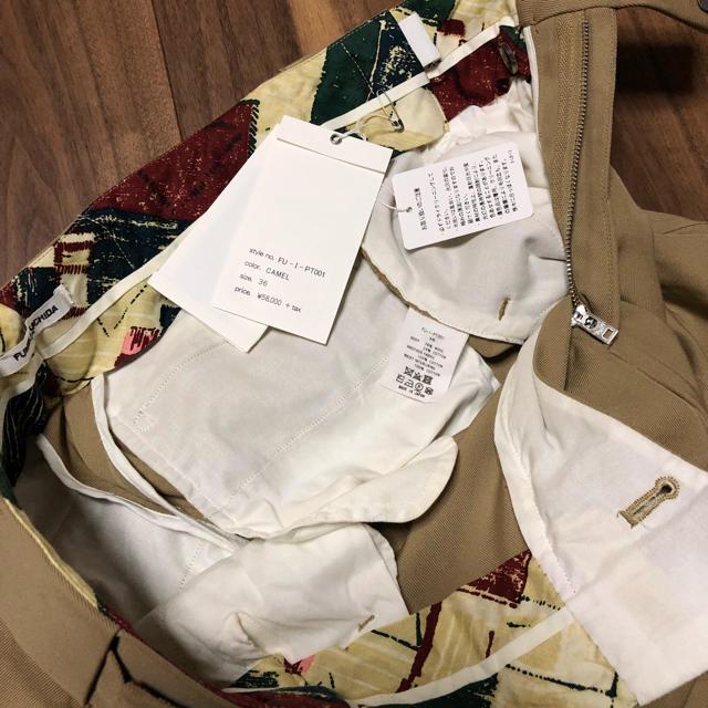 jonnlynx(ジョンリンクス)のお値下げウエスト裾詰めありFUMIKA UCHIDAオフィサーパンツ36キャメル レディースのパンツ(チノパン)の商品写真