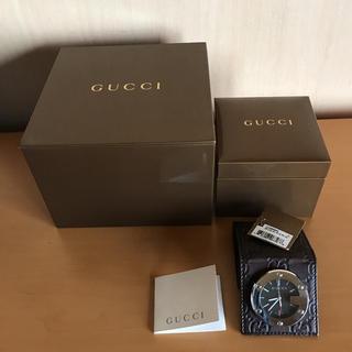 new style e10ef 231a8 GUCCI 200シマライン トラベルクロック置き時計