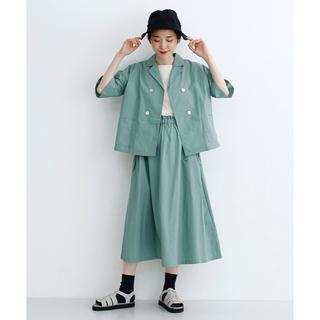 merlot - merlot ダブルボタンシャツ&リボンスカート