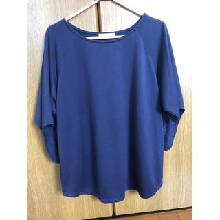シマムラ(しまむら)の五分丈トップス プルオーバー Tシャツ ブルー(Tシャツ(半袖/袖なし))