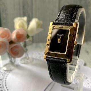 Gucci - 【電池交換済】GUCCI グッチ 4200L ゴールド 腕時計 スクエア
