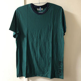 カルバンクライン(Calvin Klein)のCalvin Klein カルバン・クライン Tシャツ ストライプ ネイビー L(Tシャツ/カットソー(半袖/袖なし))