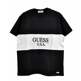 ゲス(GUESS)のゲス グリーンレーベル 2 TONE TEE ブラックXL (Tシャツ/カットソー(半袖/袖なし))