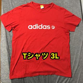 adidas - adidas アディダス Tシャツ 赤×シルバーロゴ 3L