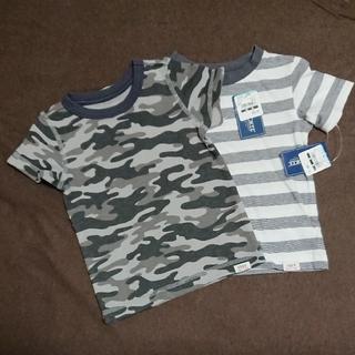 ニシマツヤ(西松屋)の[新品]90cm Tシャツ 2枚(送料込)(Tシャツ/カットソー)