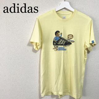アディダス(adidas)のadidas オリジナルス Tシャツ メンズL 黄色 トレフォイルロゴ デカロゴ(Tシャツ/カットソー(半袖/袖なし))