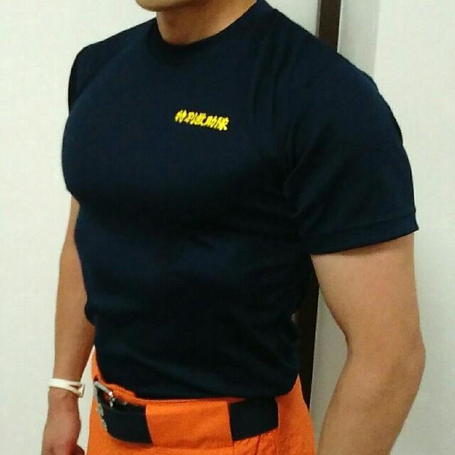 カワサキ(カワサキ)の特価【新品・未使用】消防士Tシャツ カットソー Mサイズ 自動車/バイクのバイク(装備/装具)の商品写真