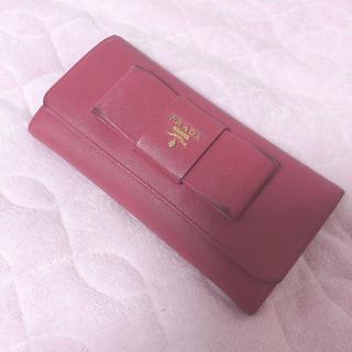 プラダ(PRADA)のPRADA サフィアーノ ピンク 財布(長財布)