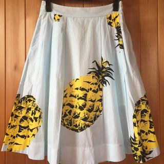 エムエスジイエム(MSGM)のMSGM パイナップルスカート 40新品タグ付き(ひざ丈スカート)