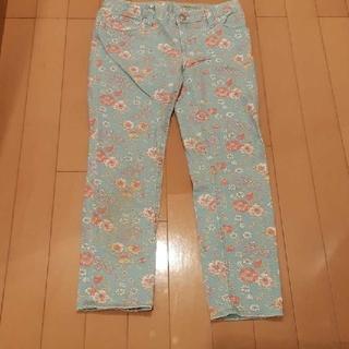 ラルフローレン(Ralph Lauren)のラルフローレンRALPH LAUREN水色ブルー×花柄スキニーデニム140サイズ(パンツ/スパッツ)