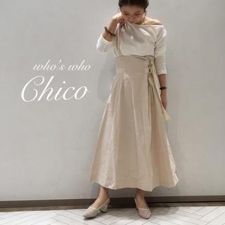 who's who Chico - 新作🍋¥7452Chicoフーズフーチコ サス付きハイウエストフレアスカート
