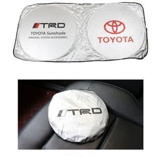 トヨタ(トヨタ)の汎用 TRD 車用  サンシェード ワンタッチ折り畳み式 日よけ 遮光シェード(車内アクセサリ)