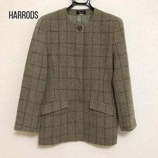 Harrods - ハロッズ ジャケット サイズ10 L レディース 肩パッド/チェック柄