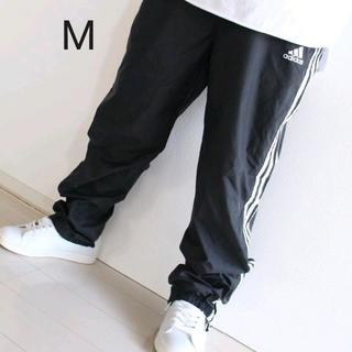 adidas - US アディダス 黒 白 ナイロン パンツ M