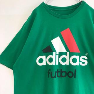アディダス(adidas)のadidas アディダス Tシャツ futbol フットボール ビッグ ロゴ(Tシャツ/カットソー(半袖/袖なし))