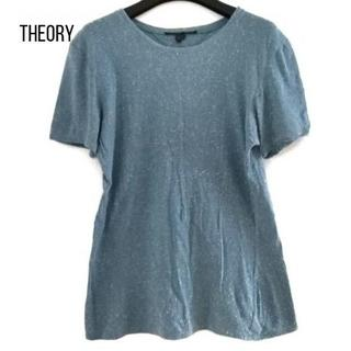 theory - セオリー 半袖Tシャツ サイズS レディース ライトブルー×アイボリー