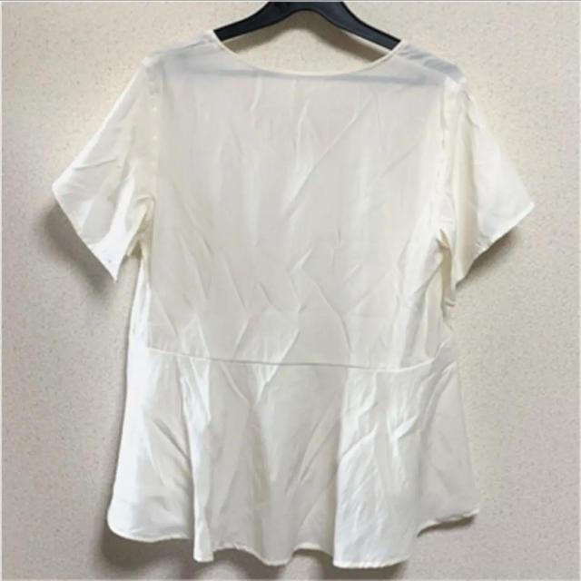 GU(ジーユー)の《新品》半袖ペプラムブラウス【GU】 レディースのトップス(シャツ/ブラウス(半袖/袖なし))の商品写真