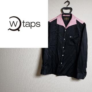 ダブルタップス(W)taps)のダブルタップス オープンカラー ボーリングシャツ ワンポイント 西山徹(シャツ)
